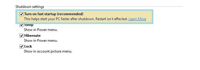 Disable hybrid shutdown in windows 8