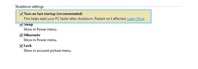 Disable hybrid shutdown in windows 8