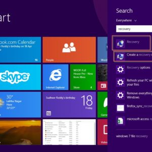 create a recovery disk in windows 8.1-search file
